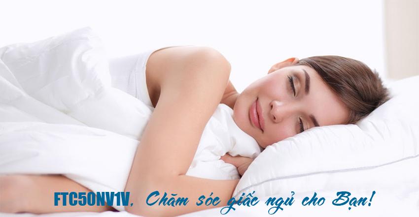 Điều hòa treo tường daikin 18000BTU FTC50NV1V/RC50NV1V | Chế độ ngủ ngon