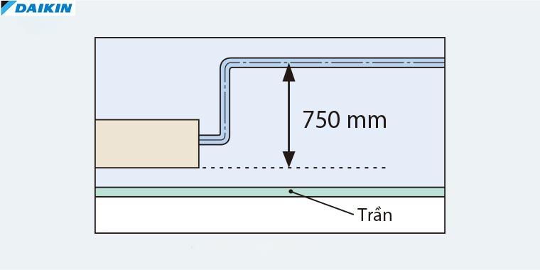 Điều hòa Âm trần nối ống gió Daikin 2 Chiều 34.000 BTU | Bơm xả nước