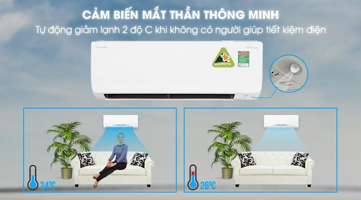 Điều Hòa Treo Tường Daikin Inverter 1 Chiều 8.500 BTU (FTKC25UAVMV/RKC25UAVMV) hiện đại