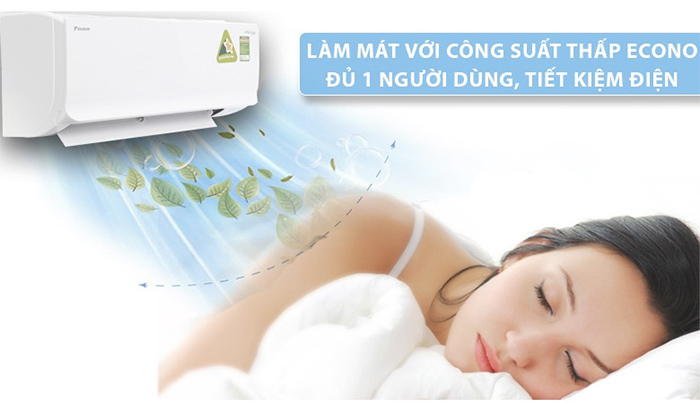 Điều Hòa Treo Tường Daikin Inverter 1 Chiều 8.500 BTU (FTKC25UAVMV/RKC25UAVMV) êm ái