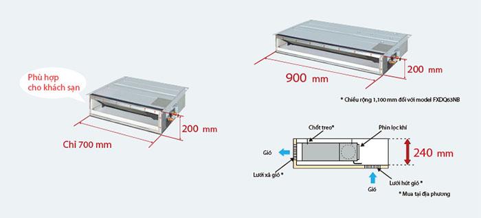 Dàn lạnh nối ống gió multi daikin inverter 1 chiều 24.000BTU (CDXM71RVMV) tiết kiệm