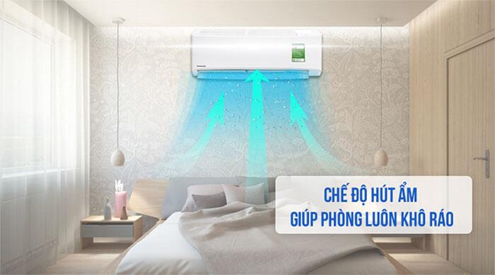 Điều Hòa Treo Tường Panasonic Inverter 1 Chiều 24.000 BTU (CU/CS-XPU24WKH-8) hút ẩm