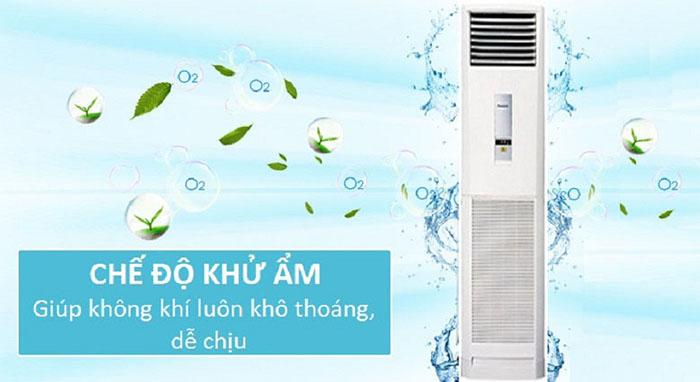Điều Hòa Tủ Đứng Panasonic 1 Chiều 17.400BTU (CS-C18FFH/CU-C18FFH) khử mùi