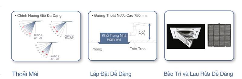Điều Hòa Âm Trần Cassette Panasonic Cỡ Nhỏ 1 Chiều 18.100BTU (CS-PC18DB4H/CU-PC18DB4H) chất lượng