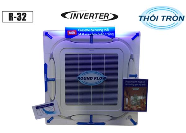 Điều Hòa Âm Trần Cassette Daikin Inverter 1 Chiều 34.100 BTU (FCF100CVM/RZF100CYM) Điều Khiển Không Dây (BRC7M635F+BYCQ125EAF)