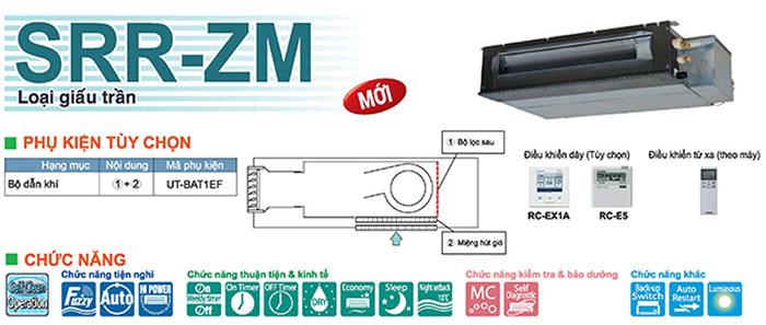 Dàn Lạnh Giấu Trần Multi Mitsubishi 2 Chiều 17.100 BTU (SRR50ZM-S) chất lượng