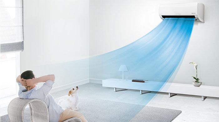 Dàn Lạnh Treo Tường Mitsubishi Multi Inverter 2 Chiều 18.000 BTU (SRK50ZS-S) thoải mái