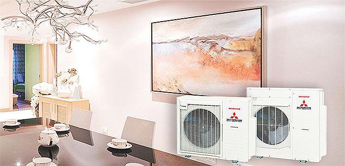 Dàn Nóng Mitsubishi Multi 2 Chiều Inverter 24.000BTU (SCM71ZM-S1)  chính hãng